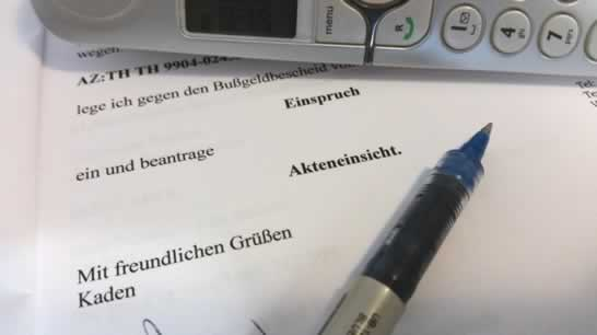 einspruchsschreiben gegen bussgeldbescheid - Einspruch Gegen Busgeldbescheid Muster